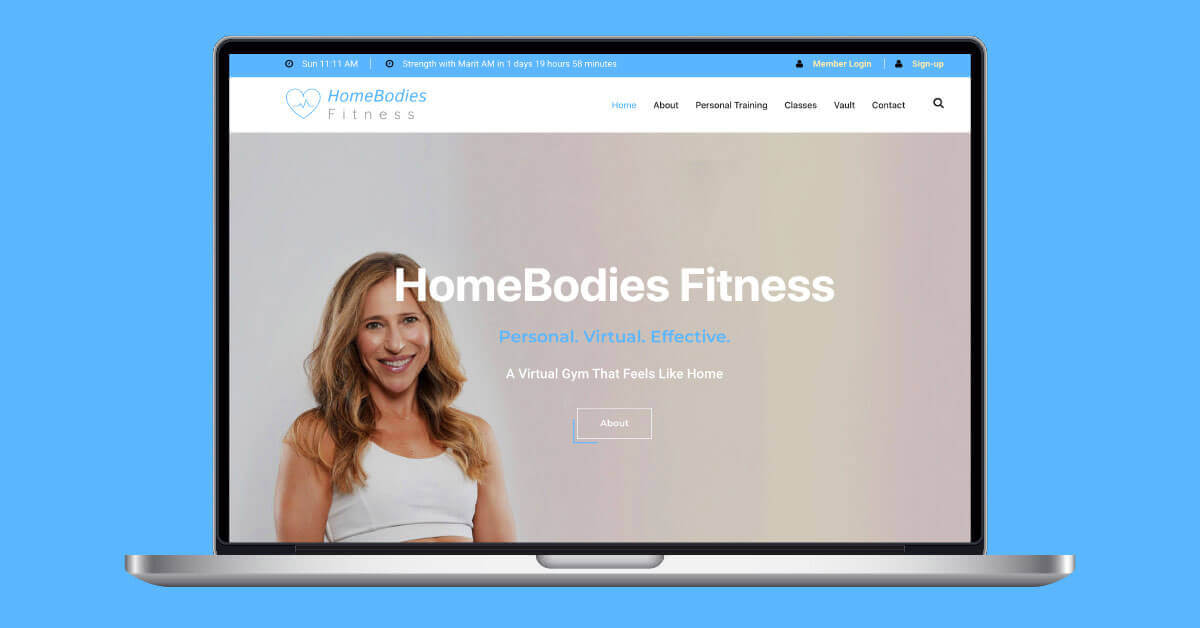 HomeBodies Fitness – The website